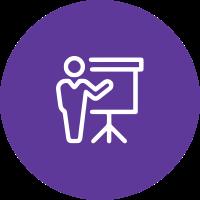 purple icon presentation