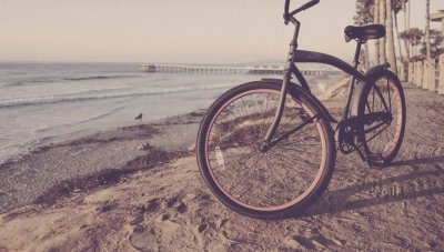 Bike beach landscape
