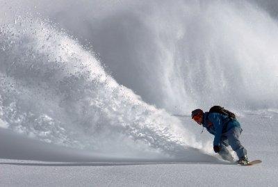 Snowboard winter landscape