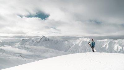 Snowboard winter landscape sports