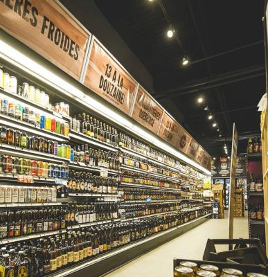 intérieur magasin bières spécialisées